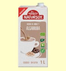 Bebida Ecológica de Arroz y Algarroba - Natursoy - 1 Litro