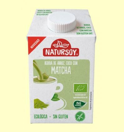Bebida Ecológica de Arroz con Coco y Té Matcha - Natursoy - 500 ml