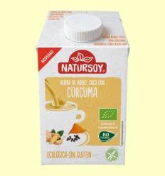 Bebida Ecológica de Arroz con Coco y Cúrcuma - Natursoy - 500 ml