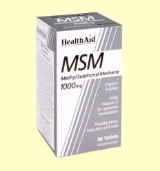 MSM 1000 mg - Rico en Azufre con Vitamina C - Health Aid - 90 comprimidos