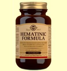 Fórmula Hematínica - Solgar - 100 comprimidos