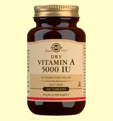 Vitamina A Seca con Vitamina C - Solgar - 100 comprimidos