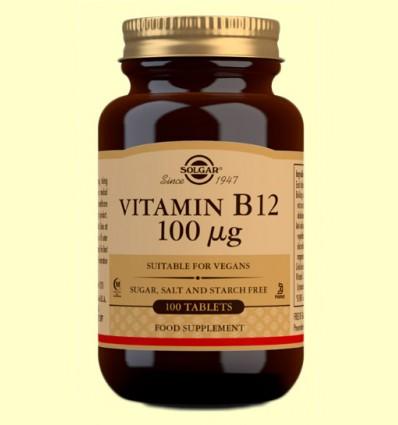 Vitamina B12 100 μg - Solgar - 100 comprimidos