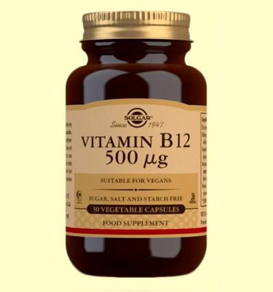Vitamina B12 500 μg - Solgar - 50 cápsulas