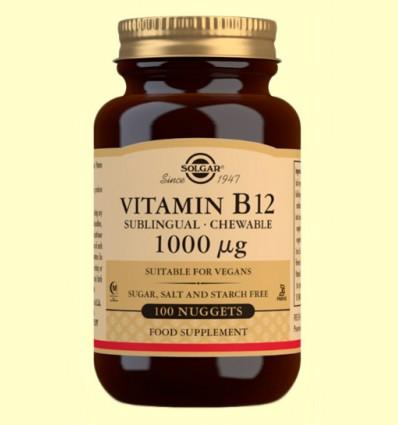 Vitamina B12 1000 μg - Solgar - 100 comprimidos masticables