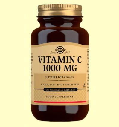 Vitamina C 1000 mg - Solgar - 250 cápsulas vegetales