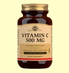 Vitamina C 500 mg - Solgar - 100 cápsulas vegetales