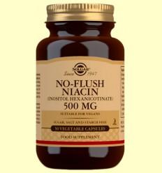 Niacina No Ruborizante 500mg - Solgar - 50 cápsulas vegetales