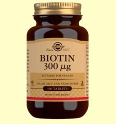 Biotina 300mcg - Vitamina B - Solgar - 100 comprimidos