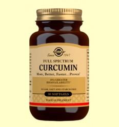 Full Spectrum Cúrcuma - Solgar - 30 cápsulas