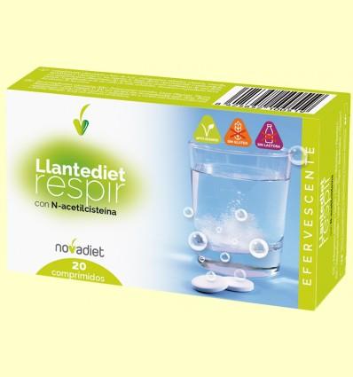 Llantediet - Sistema Respiratorio - Novadiet - 20 comprimidos efervescentes