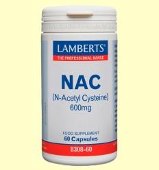 NAC (N-acetil cisteína) 600mg- Lamberts - 60 cápsulas