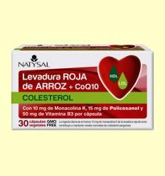 Levadura Roja de Arroz + CoQ10 - Natysal - 30 cápsulas