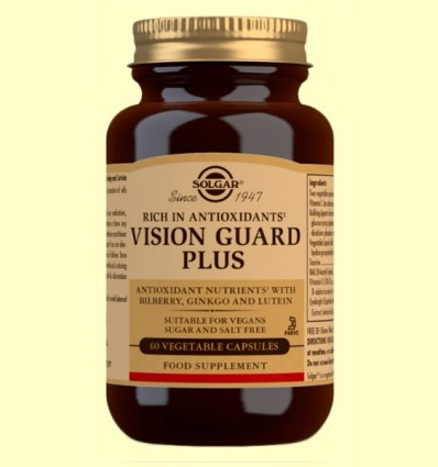 Vision Guard Plus - Salud para los ojos - Solgar - 60 cápsulas