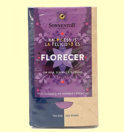 Té Florecer con rosa, echinacea y onagra Bio - Sonnentor - 27 g