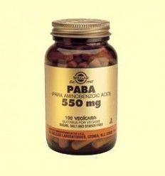PABA (Ácido paraminobenzoico) 550 mg - Solgar - 100 cap.