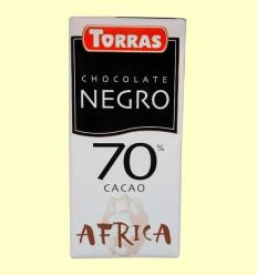Chocolate Negro 70% Cacao África - Torras - 125 gramos