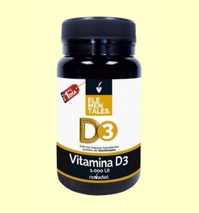 Vitamina D3 - Novadiet - 120 cápsulas