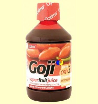 Zumo de Fruta de Goji - Enriquecido con Antioxidante OXY3 - Optima - 500 ml