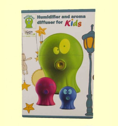Polipini Humidificador Difusor de Aroma Niños Verde - Gisa Wellness - 1 ud