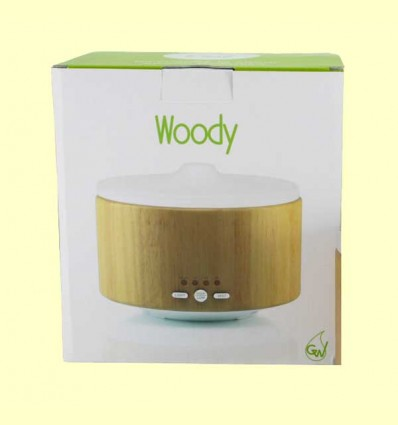 Woody - Difusor de vidrio y madera - Gisa Wellness - 1 ud