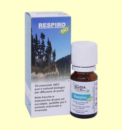 Respiro Sinergia de aceites esenciales Bio - Gisa Wellness - 10 ml.