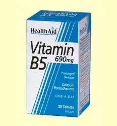Vitamina B5 (Pantotenato cálcico) 690 mg - Health Aid - 30 comprimidos