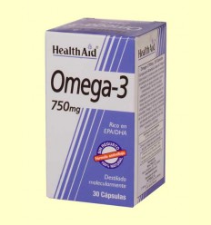 Omega-3 750 mg - Health Aid - 60 cápsulas