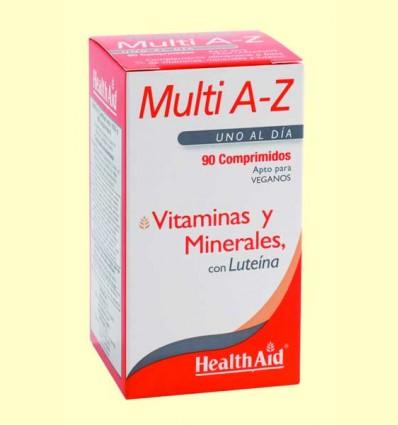 Multi A-Z - Multivitaminas con Minerales - Health Aid - 90 comprimidos