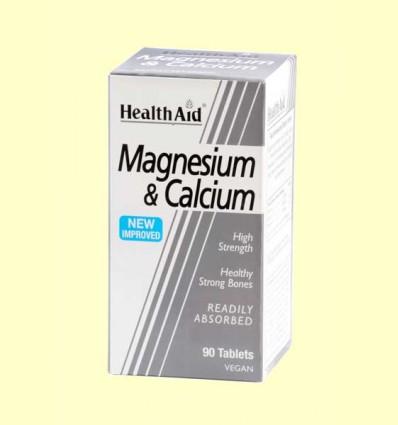 Magnesio + Calcio - Health Aid - 90 comprimidos