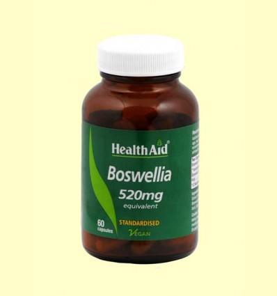 Boswelia - Resina Extracto estandarizado + polvo crudo - Health Aid - 60 cápsulas vegetales