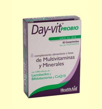 Day-Vit Probio con probióticos y CoQ10 - Coenzima Q-10 - Health Aid - 30 comprimidos