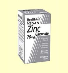 Gluconato de Zinc 70 mg - Health Aid - 90 comprimidos
