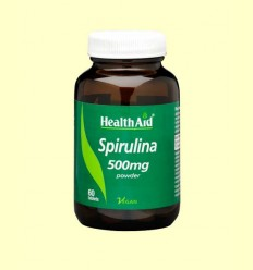 Espirulina (Spirulina platensis) 500 mg - Health Aid - 60 comprimidos