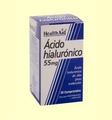 Ácido Hialurónico 55 mg - Health Aid - 30 comprimidos
