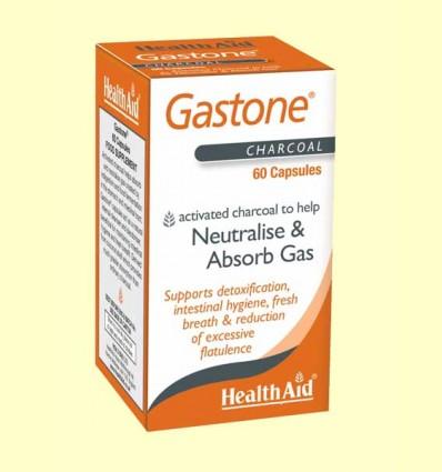 Gastone - Carbón puro activado - Health Aid - 60 cápsulas