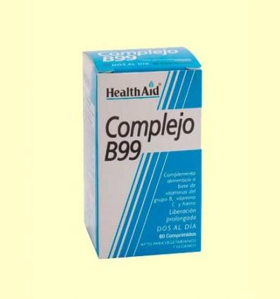 Complejo B99 - Con Vitamina C + Hierro - Health Aid - 60 comprimidos
