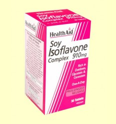 Soy Isoflavone Complex 910 mg - Health Aid - 30 comprimidos