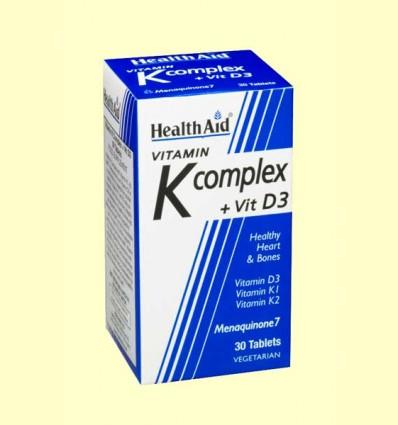 Vitamina K Complex con vitamina D3 - Health Aid - 30 comprimidos