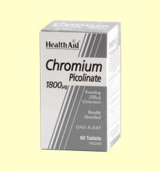 Chromium - Cromo Picolinato - Health Aid - 60 comprimidos