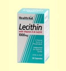 Lecitina con vitamina E y CoQ-10 - Health Aid - 30 cápsulas