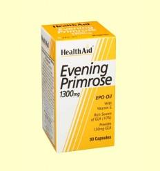 Aceite de Onagra 1300 mg con vitamina E - Health Aid - 30 cápsulas