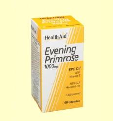 Aceite de Onagra 1000 mg con vitamina E - Health Aid - 60 cápsulas
