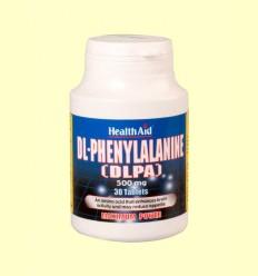 DLPA (DL-Fenilalanina) 500 mg - Health Aid - 30 comprimidos