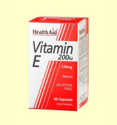 Vitamina E Natural 200 UI - Health Aid - 60 cápsulas