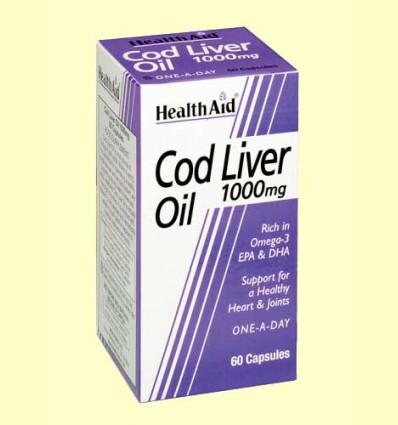 Aceite de Hígado de Bacalao 1000 mg - Health Aid - 60 cáspulas