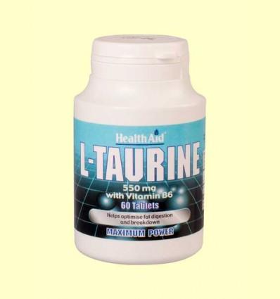 L-Taurina 550 mg con Vitamina B6 - Health Aid - 60 comprimidos