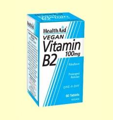 Vitamina B2 - Riboflavina 100 mg - Health Aid - 60 comprimidos