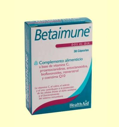 Betaimune - Antioxidante Avanzado - Health Aid - 30 cápsulas