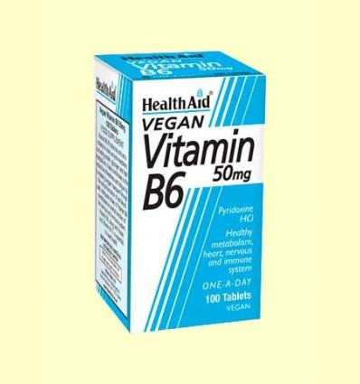 Vitamina B6 - Piridoxina Clorhidrato 50 mg - Health Aid - 100 comprimidos